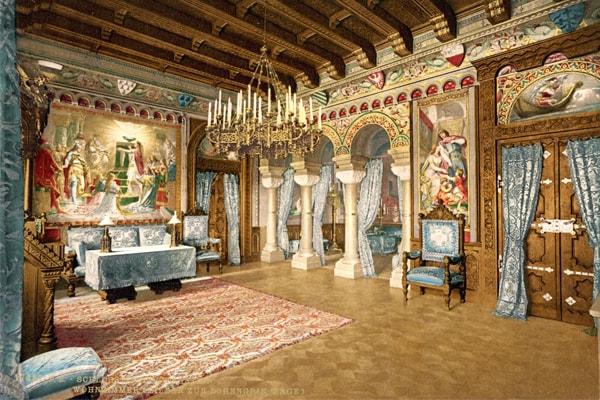 Phòng ngủ của lâu đài Neuschwanstein
