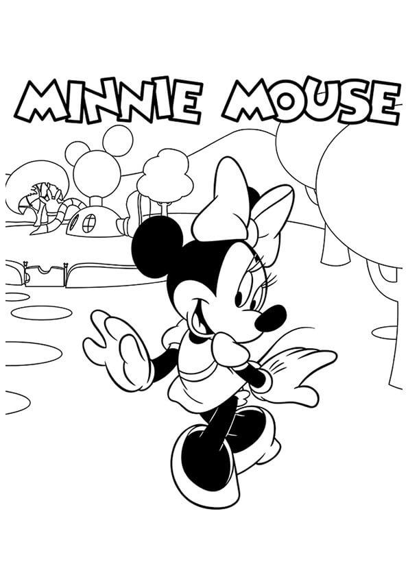 Tranh to màu chuột minnie