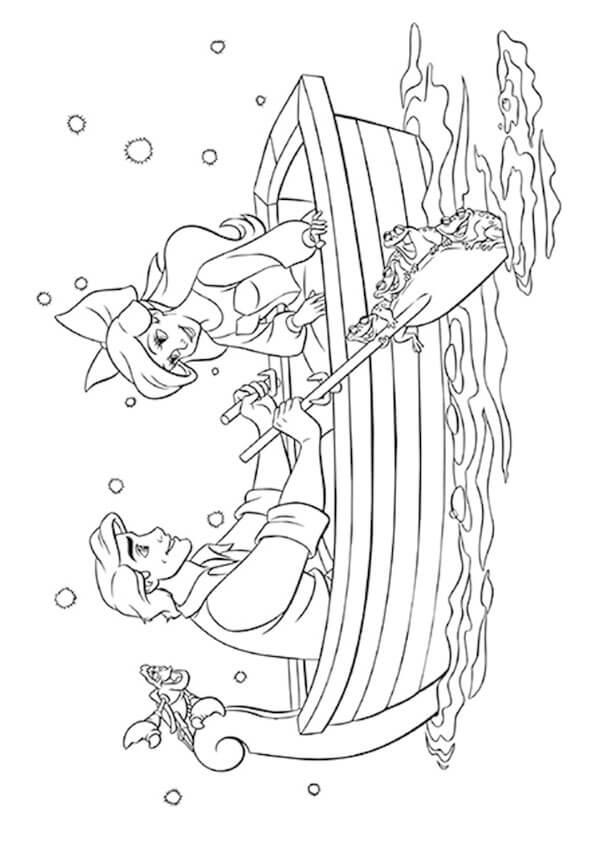 Tranh to màu nàng tiên cá Ariel và hoàng tử Eric