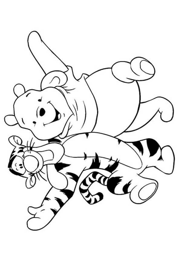 gấu pooh và hổ Tigger