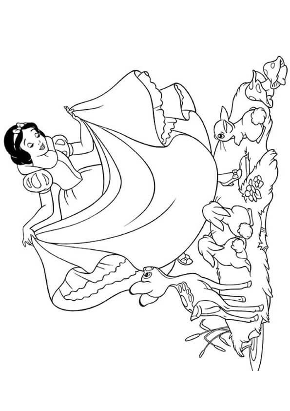 Tranh tô màu công chúa bạch tuyết và bảy chú lùn