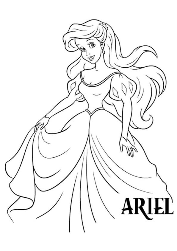 Tranh to màu nàng tiên cá Ariel